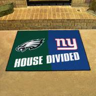 Philadelphia Eagles/New York Giants House Divided Mat