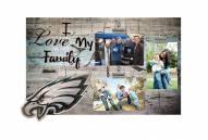 Philadelphia Eagles I Love My Family Clip Frame