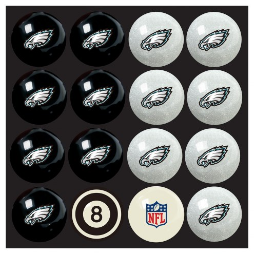 Philadelphia Eagles Home vs. Away Pool Ball Set
