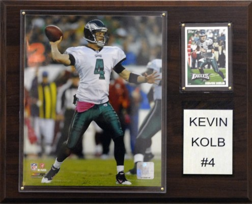 "Philadelphia Eagles Kevin Kolb 12 x 15"" Player Plaque"