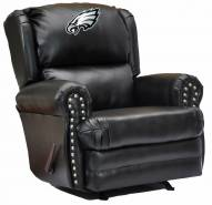 Philadelphia Eagles Leather Coach Recliner