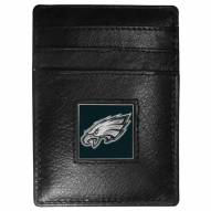 Philadelphia Eagles Leather Money Clip/Cardholder in Gift Box