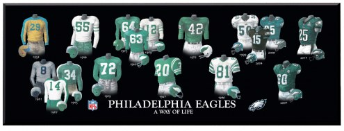 Philadelphia Eagles Legacy Uniform Plaque