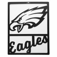Philadelphia Eagles Metal Team Sign