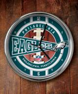Philadelphia Eagles NFL Chrome Wall Clock