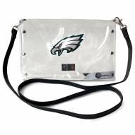 Philadelphia Eagles Clear Envelope Purse