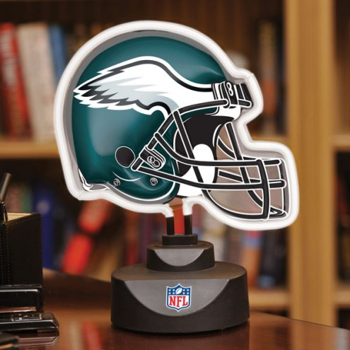 Philadelphia Eagles Neon Helmet Desk Lamp