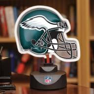 Philadelphia Eagles Neon Helmet Desk Lamp