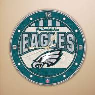 Philadelphia Eagles NFL Stained Glass Wall Clock