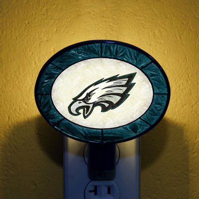 Philadelphia Eagles NFL Stained Glass Night Light