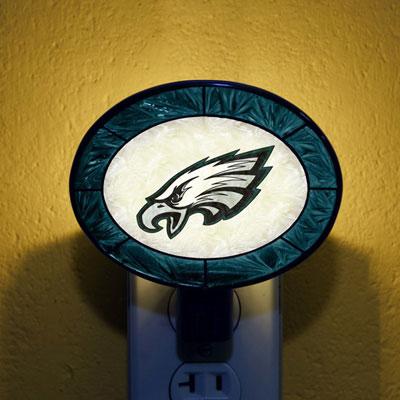 Philadelphia Eagles NFL Stained Glass Night Light