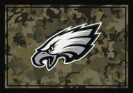 Philadelphia Eagles NFL Team Camo Area Rug
