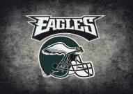 Philadelphia Eagles NFL Team Distressed Area Rug