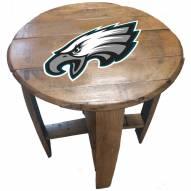 Philadelphia Eagles Oak Barrel Table