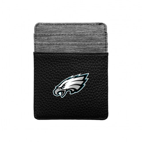 Philadelphia Eagles Pebble Front Pocket Wallet