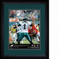 Philadelphia Eagles Personalized 13 x 16 NFL Action QB Framed Print