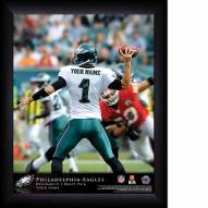 Philadelphia Eagles Personalized 11 x 14 NFL Action QB Framed Print