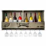 Philadelphia Eagles Reclaimed Wood Bar Shelf