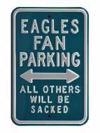 Philadelphia Eagles Sacked Parking Sign