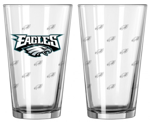 Philadelphia Eagles Satin Etch Pint Glass - Set of 2