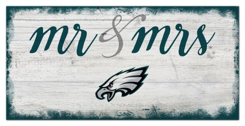 Philadelphia Eagles Script Mr. & Mrs. Sign