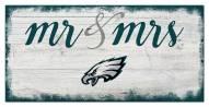 Philadelphia Eagles Script Mr. & Mrs. Sign