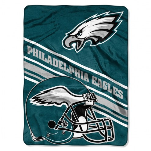 Philadelphia Eagles Slant Raschel Blanket