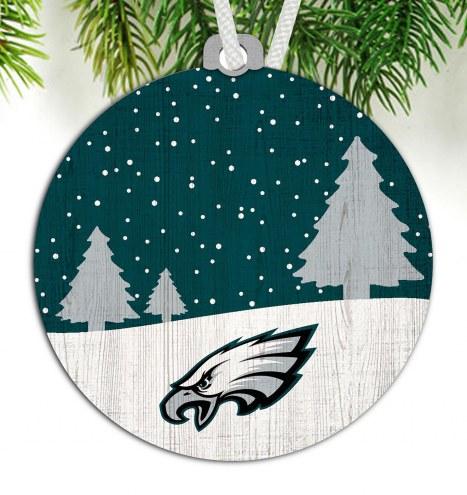 Philadelphia Eagles Snow Scene Ornament