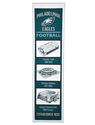 Philadelphia Eagles Stadium Evolution Banner