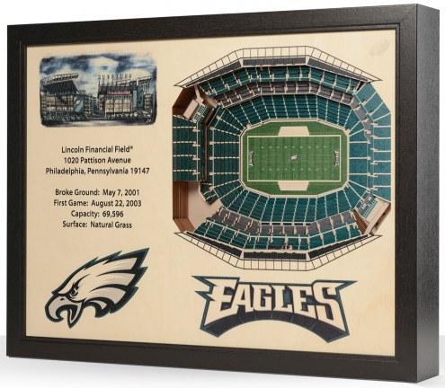Philadelphia Eagles 25-Layer StadiumViews 3D Wall Art