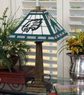 Philadelphia Eagles Stained Glass Mission Table Lamp