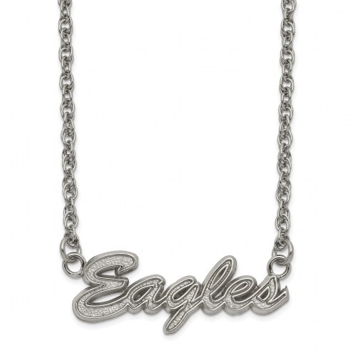 Philadelphia Eagles Stainless Steel Script Necklace