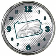 Philadelphia Eagles State of Mind Chrome Clock