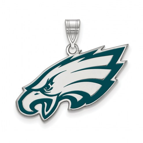 Philadelphia Eagles Sterling Silver Enamel Pendant