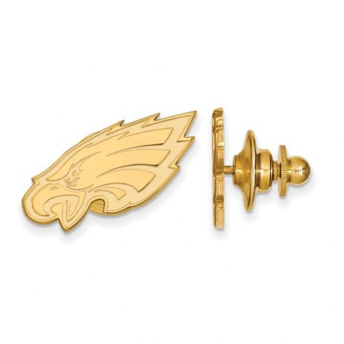 Philadelphia Eagles Sterling Silver Gold Plated Lapel Pin