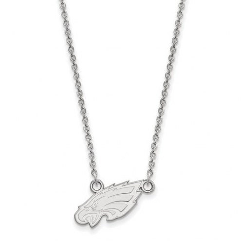 Philadelphia Eagles Sterling Silver Small Pendant with Necklace