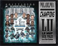 "Philadelphia Eagles Super Bowl LII Champions 12"" x 15"" Stat Plaque"