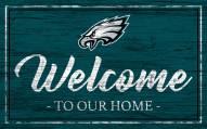 Philadelphia Eagles Team Color Welcome Sign