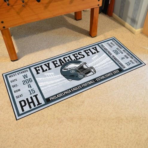 Philadelphia Eagles Ticket Runner Rug