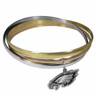 Philadelphia Eagles Tri-color Bangle Bracelet