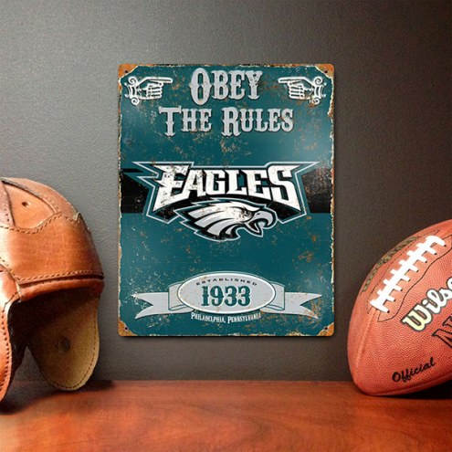Philadelphia Eagles Vintage Metal Sign
