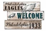 Philadelphia Eagles Welcome 3 Plank Sign