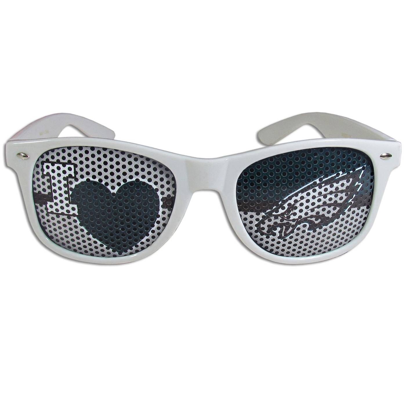 Philadelphia Eagles White I Heart Game Day Shades