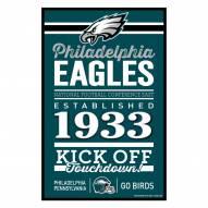 Philadelphia Eagles Established Wood Sign