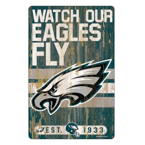 Philadelphia Eagles Slogan Wood Sign