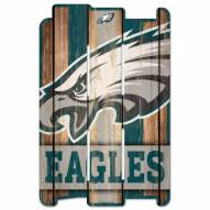 Philadelphia Eagles Wood Fence Sign