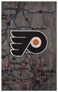 "Philadelphia Flyers 11"" x 19"" City Map Sign"