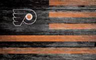 "Philadelphia Flyers 11"" x 19"" Distressed Flag Sign"