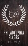 "Philadelphia Flyers 11"" x 19"" Laurel Wreath Sign"