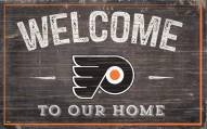 """Philadelphia Flyers 11"""" x 19"""" Welcome to Our Home Sign"""